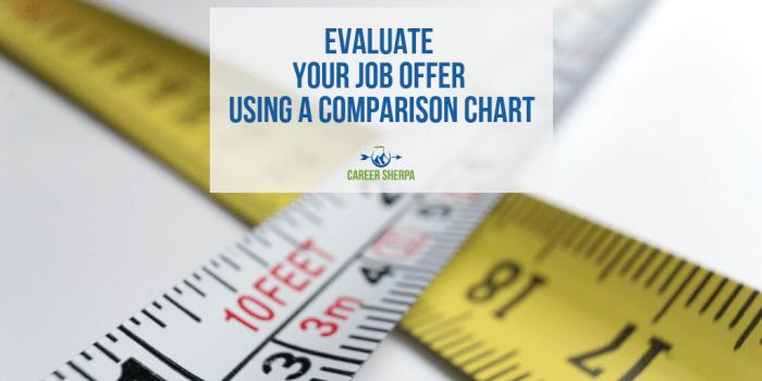 job offer comparison chart