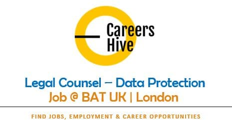 Legal Counsel Jobs in London for Data Protection & Marketing   BAT UK