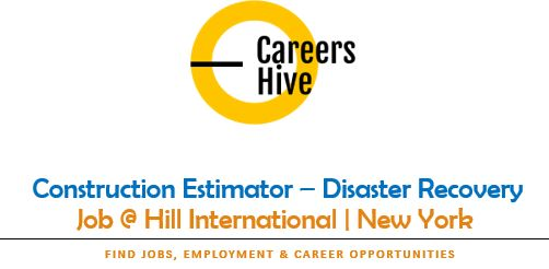Disaster Recover - Construction Estimator Jobs in New York at Hill Int'l