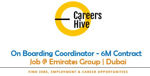 On Boarding Coordinator - 6M Contract | Emirates Group Careers dnata