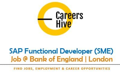SAP Functional Developer (SME) Jobs in London at Bank of England