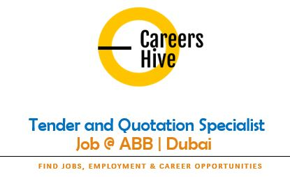Tender and Quotation Specialist | ABB Company Jobs in UAE 2021