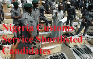 Nigeria Customs Service Shortlisted Candidates