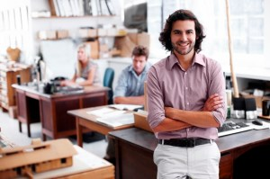 Male designer in workplace
