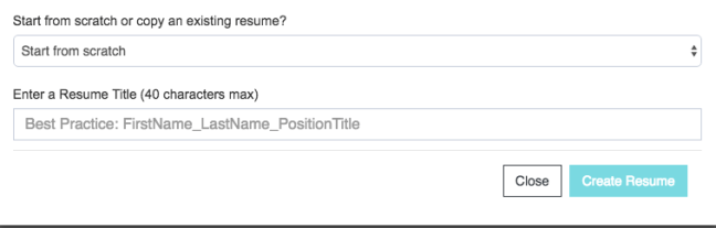 Resume name