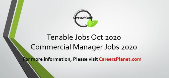 Territory Manager Jobs @ Tenable 28 Oct 2020
