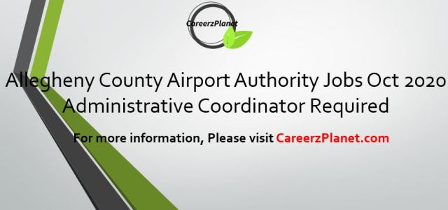 Allegheny County Airport Authority Jobs Oct 2020