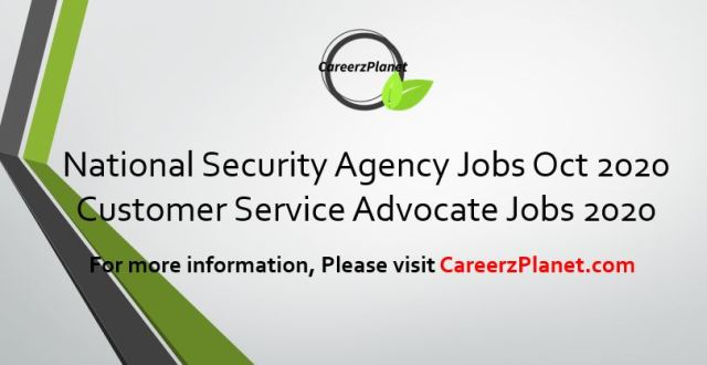 National Security Agency 30 Oct 2020 Jobs