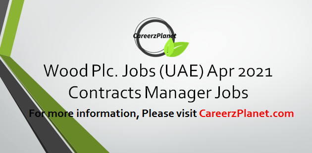 Contracts Manager Jobs 01 Apr 2021