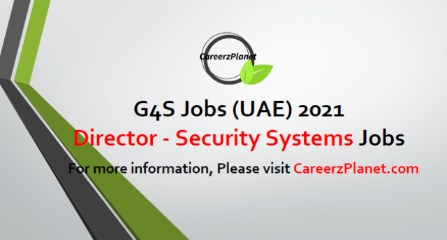 Operations Director - Security Systems Jobs in UAE 20 Apr 2021