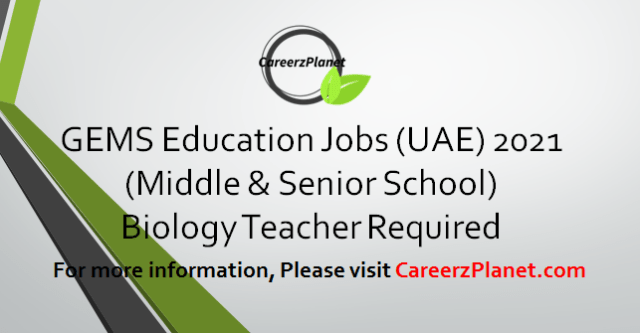 Biology Teacher Jobs in UAE 10 Apr 2021