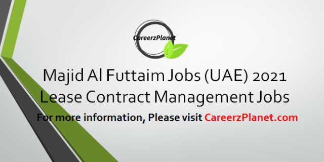 Lease Contract Management Jobs in UAE 02 Apr 2021