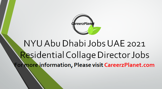 Residential College Director Jobs in UAE 04 Apr 2021