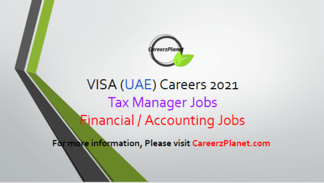 Financial Jobs in Dubai UAE 02 Apr 2021 1- Tax Manager Full Time Dubai, United Arab Emirates  Job Responsibilities: A- Assist with region's quarterly and annual tax provisions in accordance with ASC 740, including the analysis of uncertain tax positions and potential valuation allowance requirements. B- Assist with maintaining the region's transfer pricing policies and calculations, including overseeing and supporting the preparation of transfer pricing studies and updates. C- Coordinate the preparation, review and filing of the region's international direct tax and indirect tax compliance processes. D- Provide support in managing the region's tax audits, which includes working with external tax advisors to review tax notices & inquiries received.  Job Requirements: A- At least 6 years with either a major public accounting firm and or a combination with a large American-owned multinational corporation, with a minimum of 3 years international taxation experience.  B- BS/BA in Accounting or Finance, CPA/CA and/ or Masters in Taxation preferred.  For more details, please scroll down & see the details.  Last Date to Apply: Apr-15-2021  Visa Careers - United Arab Emirates Apply at CareerzPlanet.com