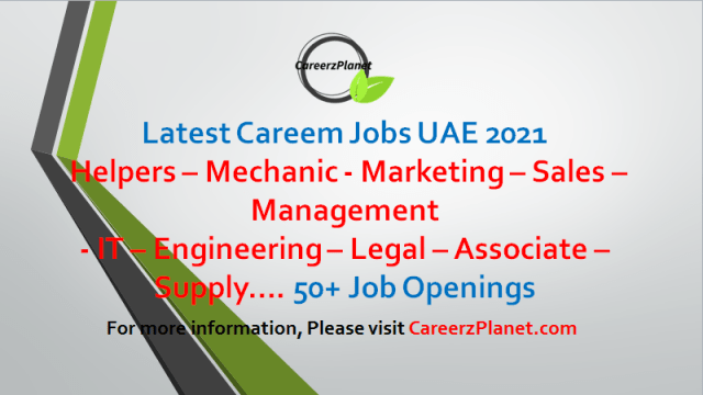 Careem Jobs in UAE 05 May 2021  1- Senior Sales Manager Full Time Dubai, UAE  2- Bike Helper Full Time Dubai, UAE   3-Bike Helper - Rebalancer Full Time Dubai, UAE    4- Growth Operations Manager Full Time Dubai, UAE    5- Community Management Lead Full Time Dubai, UAE    6- Director of Data Science Full Time Dubai, UAE     7- Senior Data Science Manager Full Time Dubai, UAE   8- Staff Software Engineer I (Monitoring)  Full Time Dubai, UAE    9- Senior Data Scientist (Careem Pay) Full Time Dubai, UAE    10- Staff Data Architect II Full Time Dubai, UAE  11- Senior Account Manager II Full Time Dubai, UAE  12- Senior Manager - Food Strategic Projects Full Time Dubai, UAE   13- Business Intelligence Manager Full Time Dubai, UAE   14- General Manager Full Time Dubai, UAE  15- Staff Software Engineer II (Infrastructure Architecture) Full Time Dubai, UAE  16- Staff Software Engineer I (Monitoring) Full Time Dubai, UAE   17- Staff Software Engineer I SRE Full Time Dubai, UAE   18- Director of Legal  Full Time Dubai, UAE   19- Senior Legal Counsel Full Time Dubai, UAE  And many More Jobs, For more details, please scroll down & see the details.  Last Date to Apply: May-31-2021  Careem Careers - United Arab Emirates