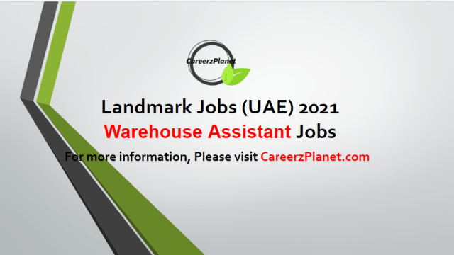 Warehouse Assistant Jobs in UAE 03 May 2021