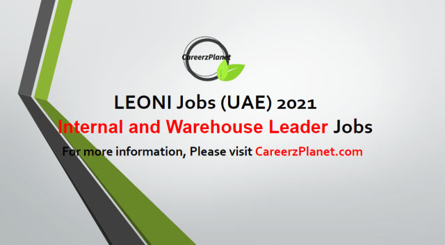 Internal material flow and Warehouse Leader Jobs in UAE 03 May 2021