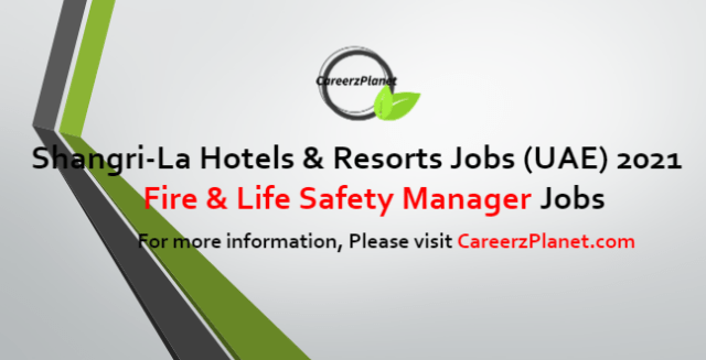 Fire & Life Safety Manager Jobs in UAE 12 May 2021