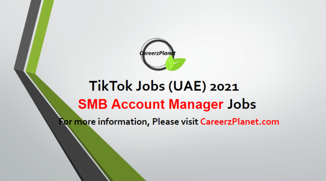 SMB Account Manager  jobs 05 May UAE 2021