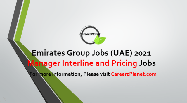 Manager Interline and Pricing Distribution Jobs in UAE 11 Jun 2021