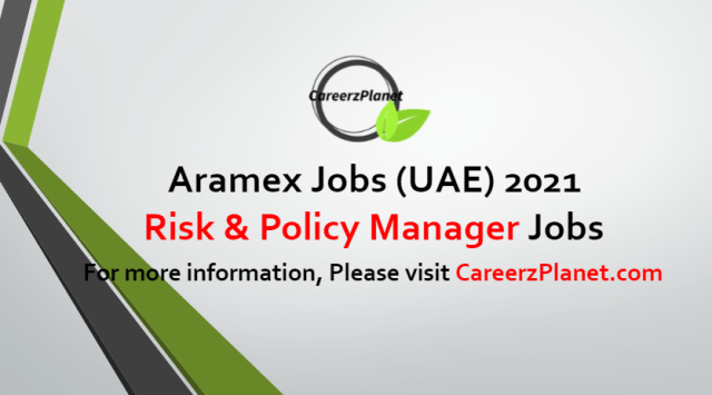Risk & Policy Manager Jobs in UAE 04 Jul 2021