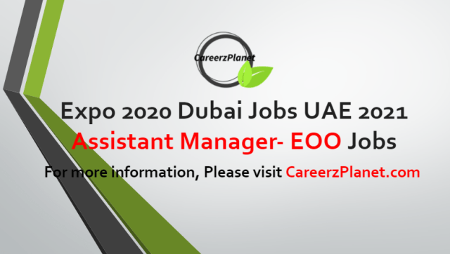 Assistant Manager- EOO Jobs in UAE 06 Jul 2021