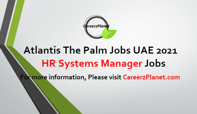 HR Systems Manager Jobs in UAE 24 Jul 2021