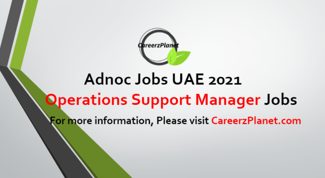 Operations Support Manager Jobs in UAE 10 Jul 2021