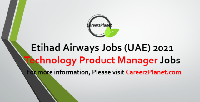 Technology Product Manager Jobs in UAE 03 Jul 2021