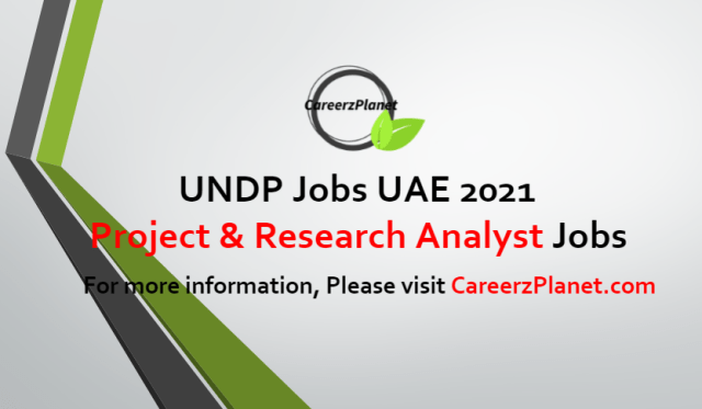 Project & Research Analyst Jobs in UAE 13 Jul 2021