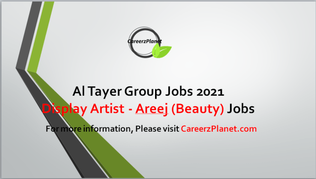 Fine Arts Jobs at Al Tayer Group UAE 28 Aug 2021 1- Display Artist - Areej (Beauty) , Bloomingdales & Harvey Nichols Full Time Dubai, UAE  Job Purpose: To produce, install and remove display items as per the approved concept/ design/ theme, within allotted time so as to contribute to the projection of brand image and visibility.  Responsibilities: A- Receive instructions from VM Associateson the work to be done and accordingly produce mall podiums, in-store podiums. B-Window displays and other product display items, as required, within allotted time, for the purpose of installation. C- Install, carefully and properly, all the display items as per approved concept / design / theme to attract the attention of customers and draw them towards the given product / brand. D- Remove the display materials / items at the end of allotted time, carefully dismantle, pack and transport them back to the warehouse to enable codification and storage of materials properly for future use. E- Prepare and submit daily report on the work done so as to enable measurement of efficiency and quality of work done by the Display Artists.  Requirements: A- O'level / Intermediate, with territory qualifications in fine or commercial arts. B- 2 to 5 years of relevant experience as VM/Display artist in any field with retail background.  For more details, please scroll down & see the details.  Last Date to Apply: Sep-15-2021  Al Tayer Group Careers - United Arab Emirates Apply at CareerzPlanet.com