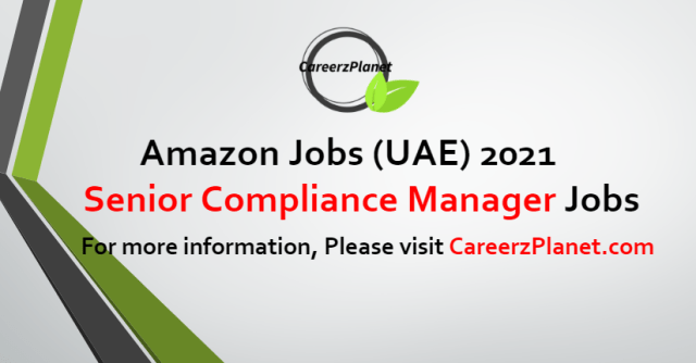 Senior Compliance Manager Jobs in UAE 29 Aug 2021