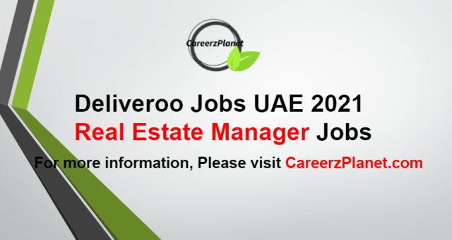 Real Estate Manager Jobs in UAE 28 Aug 2021