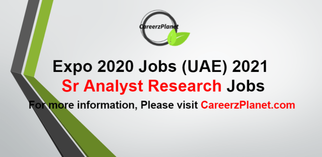 Analyst Research Jobs in UAE 25 Aug 2021