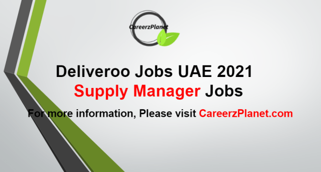 Supply Manager Jobs in UAE 28 Aug 2021