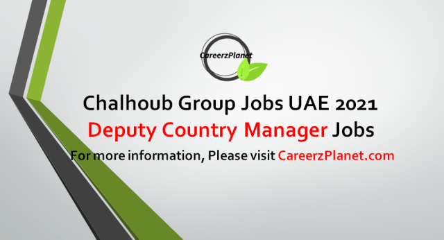 Deputy Country Manager Jobs in UAE 15 Sep 2021