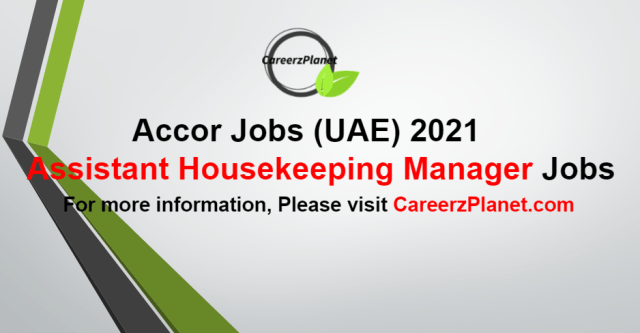 Assistant Housekeeping Manager Jobs in UAE 03 Sep 2021