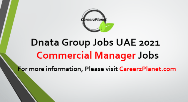 Manager Commercial Jobs in UAE 13 Sep 2021