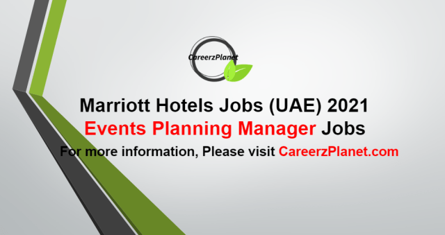 Events Planning Manager Jobs in UAE 03 Oct 2021