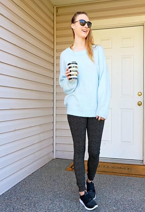 polka dots & oversized sweaters