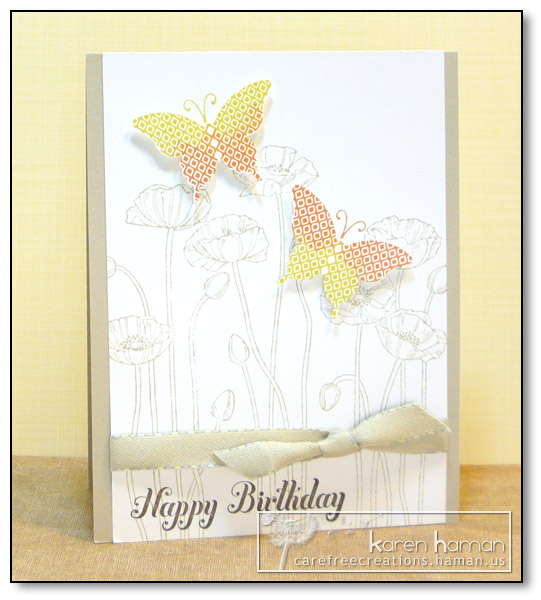 by Karen @ Carefree Creations - Birthday Butterflies
