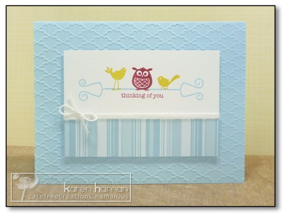 by Karen @ Carefree Creations - Owl Be Thinking of You