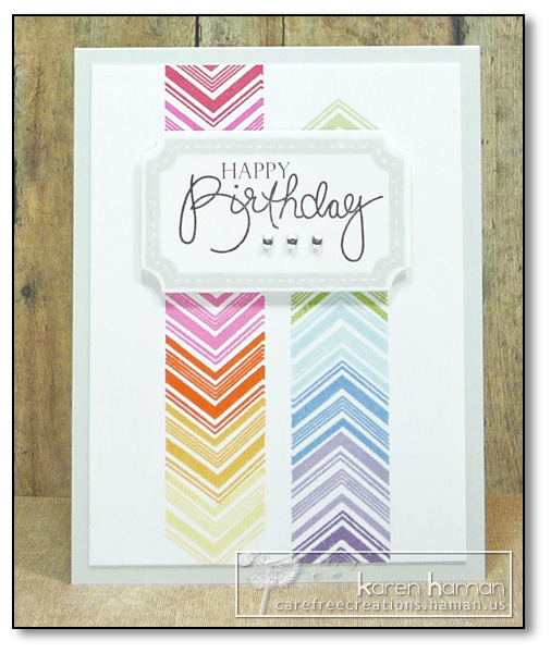 by Karen @ Carefree Creations - Rainbow Chevrons