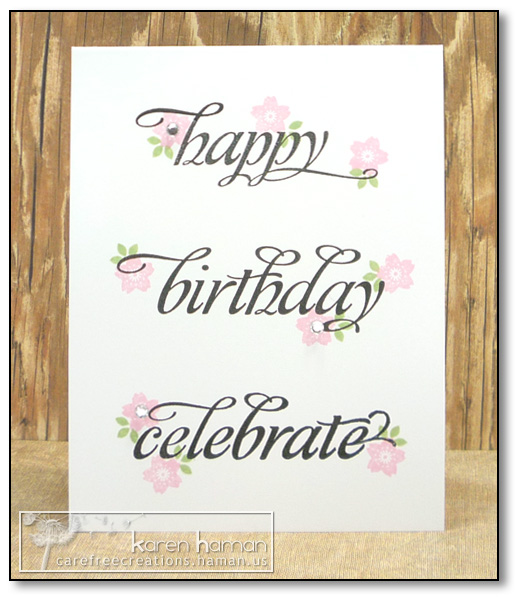 by Karen @ Carefree Creations - Birthday Words