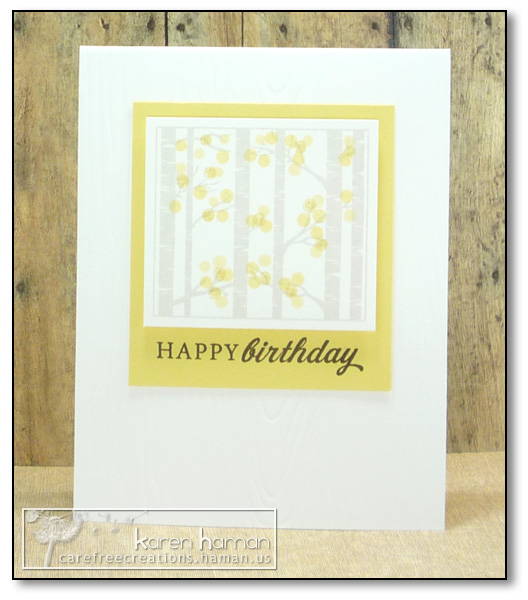 by Karen @ carefree creations - Birthday Aspens