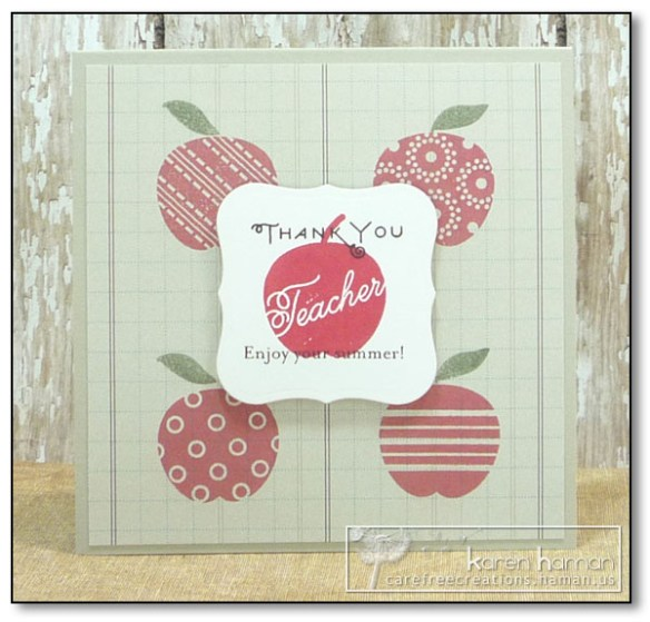 by Karen @ carefree creations - Apple for the Teacher