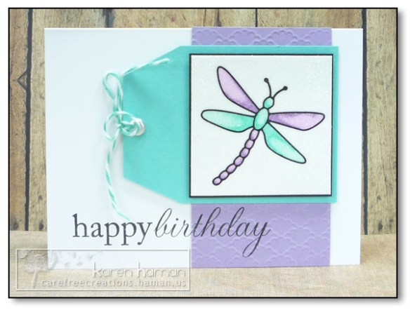by Karen @ carefree creations - Glittered Dragonfly