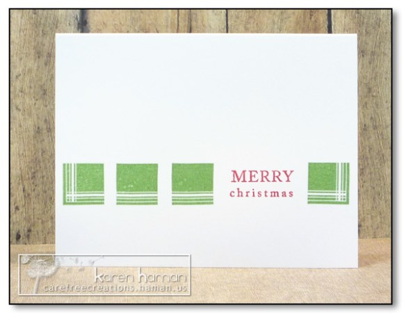 by Karen @ carefree creations - Christmas Squares