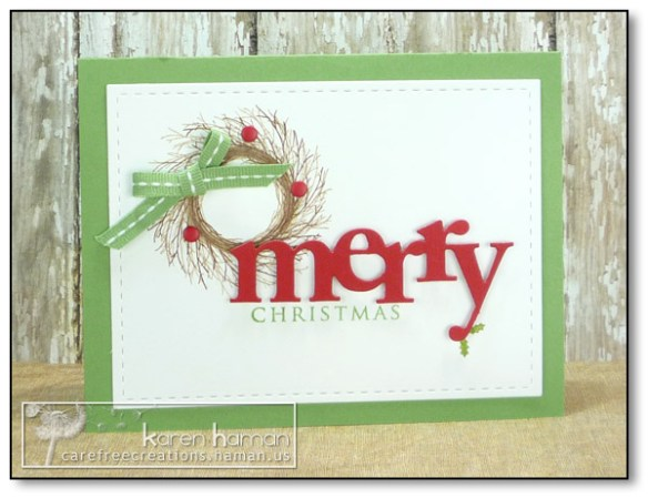 by Karen @ carefree creations - Holiday Wreath