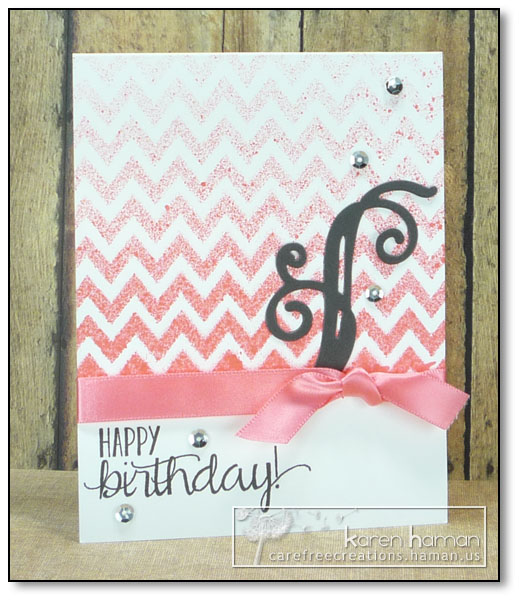 by karen @ carefree creations - Birthday Chevrons